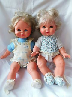 Lot of 2 FURGA Italian Sleeper Baby Dolls Crier Girl & Anatomical Boy