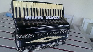 Paolo Soprani Deluxe 120 bass accordion. EXTRA PRICE!