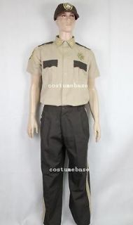 Walking Dead State Trooper Uniform + Cap + Badge + Collar Pins zombie