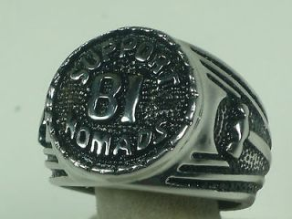 81support nomad hammer stainless stee 1%l outlaw biker ring