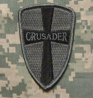 CROSS CRUSADER SHIELD TACTICAL ARMY MORALE ISAF MILSPEC ACU DARK