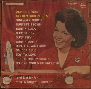 JOS CLASSIC VINYL  1964 Annette Sings Golden Surfin Hits Buena