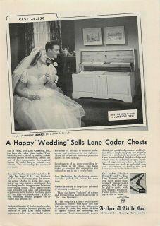 1953 Arthur D. Little, Lane Hope Chest   Vintage Ad