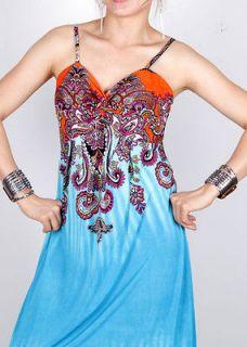 New Fashion Womens summer Sexy Spaghetti Strap Long Maxi Dress Y003