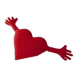 FAB IKEA HUGGING HEART PLUSH VALENTINES CUSHION RED FAMING HJARTA