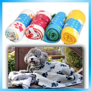 Personalized Pet Soft Cozy Special Paw Prints Fleece Blanket Mat Hot