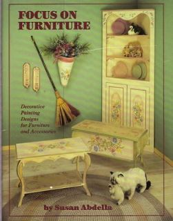 FOCUS ON FURNITURE by Susan Abdella Decorative Tole Painting Book