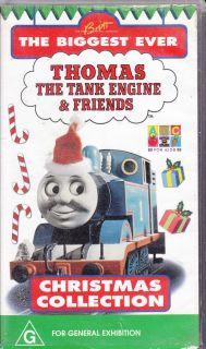 PAL VHS VIDEO  THOMAS TANK ENGINE & FRIENDS CHRISTMAS COLLECTION