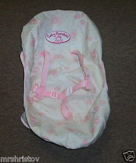 BABY ANNABELL DOLL INFANT CAR SEAT COVER ONLY BY ZAPF CREATIONS