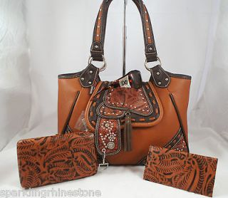 western leather saddle purses in Clothing,
