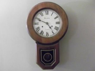 Beautiful Vintage Montgomery wards 31 Day Key Wind Pendulum Wall Clock
