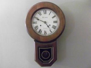 Beautiful Vintage Montgomery wards 31 Day Key Wind Pendulum Wall Clock