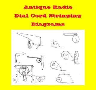 Antique Radio Dial String Diagram Collection   CD