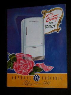 vintage refrigerator ge