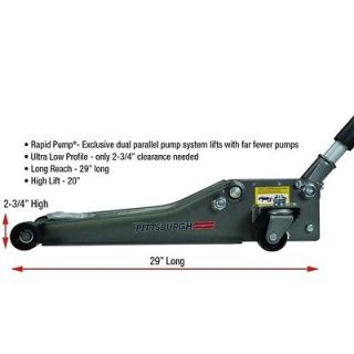 Low Profile Floor Jack with Rapid Pump®, 2.5 Ton Heavy Duty Steel NEW