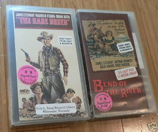Lot of 2 James Stewart VHS Westerns Video Rare Breed