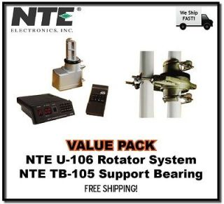 Value* NTE U 106 Antenna Rotor, Remote Control Box, and TB 105