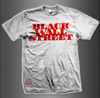 The Game   Presidential Black Wall Street T Shirt (Red/White)