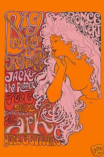 Janis Joplin & Big Brother at The Ark in Sausalito Concert Poster 1967