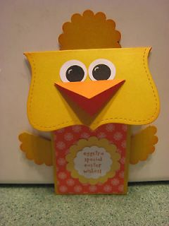 Handmade Chick Easter Gift Card Holder/ Greeting Card