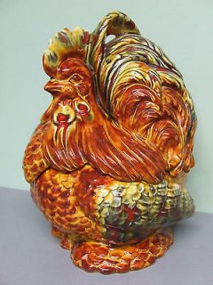 Vintage Ceramic Multi Coloured Rooster/Bird Cookie Jar