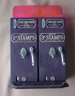 1940 1945 Schermack Stamp Vending Machines, 1 Cent & 3 Cent