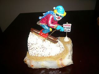 RON LEE CLOWN SCULPTURE CAUTION, NO SNOW DOWNHILL SKIING #438 7