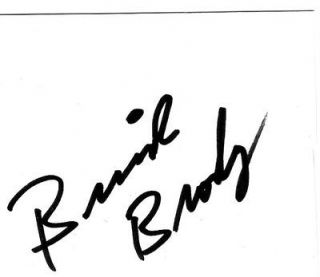 Bruiser Brody signed autographed index card signed in person WWF WWE