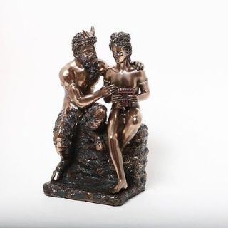 Greek God Pan and Daphne Statue Rustic Music Flute Wild Nymphs Dance