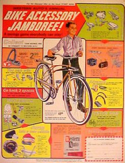 1965 Western Autos Flyer Bike Accessory Bicycle Seats~Saddle Promo