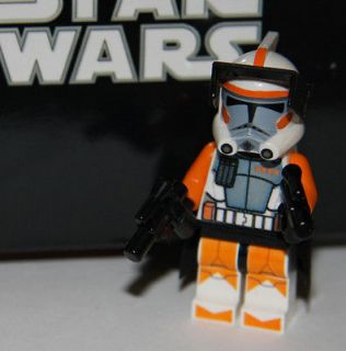 LEGO STAR WARS CUSTOM ORANGE ARC COMMANDER CODY TROOPER MINIFIG MINI