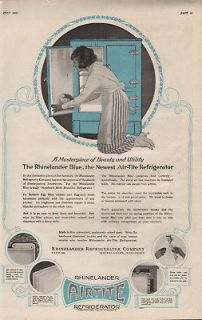 1920 RHINELANDER REFRIGERATOR APPLIANCE MAID AIR TITE ICE BOX