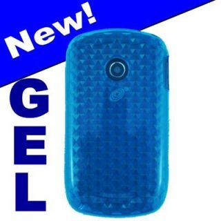 New For LG800G cell phone Aqua Blue Gel case cover skin rubberized