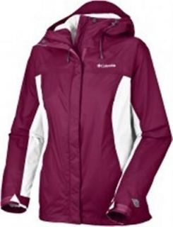 Columbia Arcadia Rain Jacket Shell Rainwear Purple Tarte White