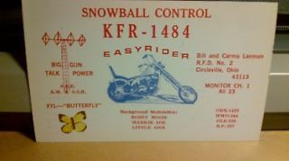 citizens band CB radio QSL postcard motorcycle Lanman 1970s