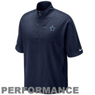 Nike Dallas Cowboys Hot Sideline Short Sleeve Pullover Jacket   Navy