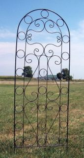 Wrought Iron Circle Trellis   Pretty Metal Support for Vines and