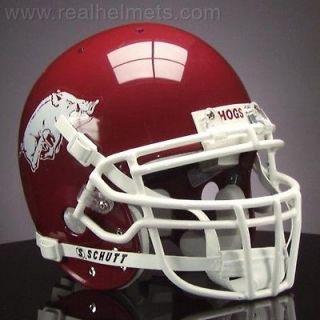 HOGS Football Helmet FRONT Nameplate DECAL   ARKANSAS RAZORBACKS