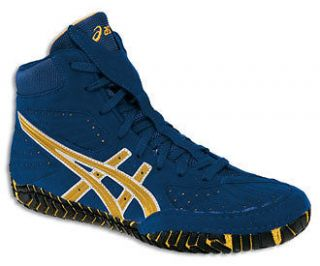 Asics Aggressor Royal/Gold Mens Wrestling Shoes