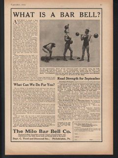BAR BELL EXERCISE DUMB KETTLE GYM FITNESS MUSCLE HEALTH WEIGHT ART AD