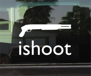 SHOOT MOSSBERG SHOTGUNS 8 INCH VINYL DECAL / STICKER