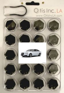 99 9712 B S6 BLACK lug bolt covers AUDI S6 wheels FREE SHIPPING in the