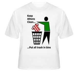 Panathinaikos Keep Athens Clean Funny Football T Shirt