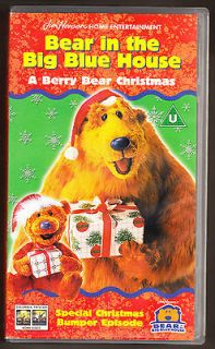 in the big blue house a berry bear christmas vhs pal uk video - Bear Inthe Big Blue House Christmas