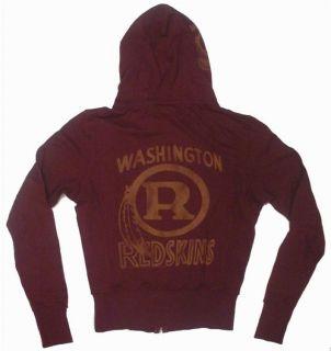 New Authentic Junk Food NFL Washington Redskins Zip Up Ladies Hoodie