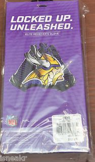 NIKE VAPOR JET 2.0 NFL RECEIVER GLOVES MINNESOTA VIKINGS PURPLE/WHITE