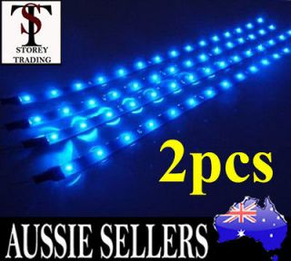 Power BLUE SMD LED 30cm 15 LED Strip Car Neon Light Lights 12V Blue