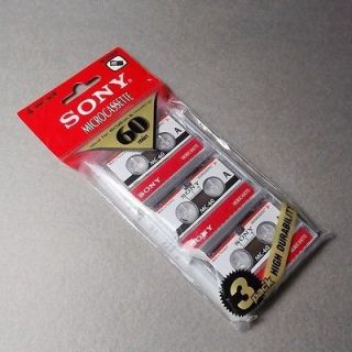 Microcassette Blank Cassette Tape Disc 60 min 3 pcs Tapes for Sony MC