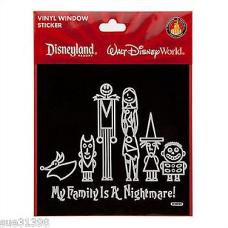 Disney Nightmare Christmas Jack Family Vinyl Car Window Cling Decal