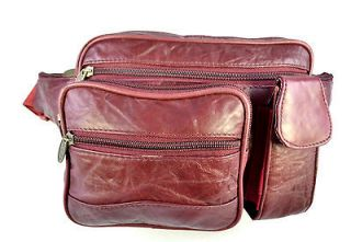 Genuine Leather Large size Square Fanny Pack